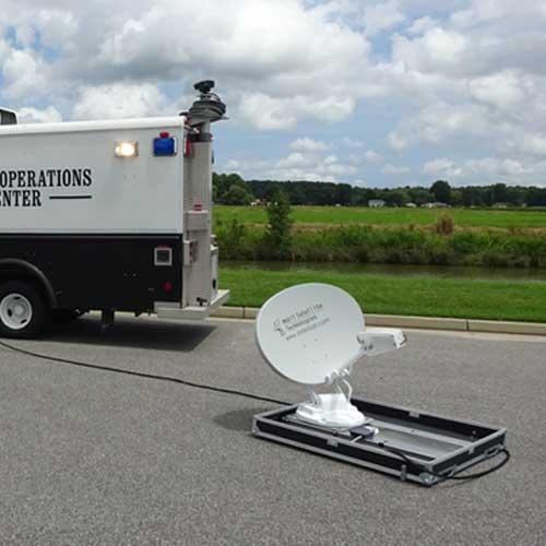 flyaway satellite antennas