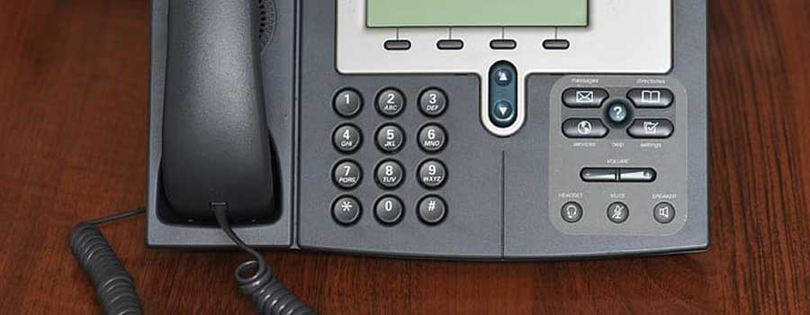Botton of VoIP phone line