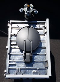 top of the ECT-10 with satellite dish stowed
