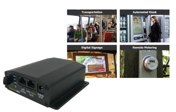 Pepwave BR1 mini, for deployments in transportation, automated kiosks, digital signage, and remote metering