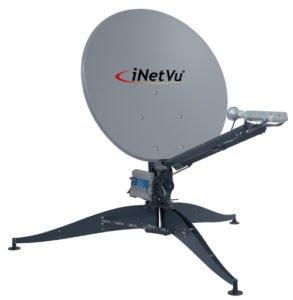 C-COM iNetVu FLY-98V flyaway satellite dish