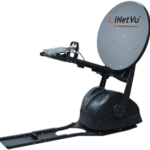 deployed Ka750V mobile satellite dish by iNetVu