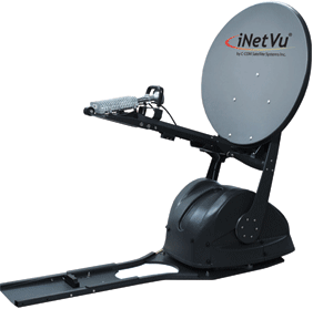 deployed Ka750V mobile satellite dish by iNetVu