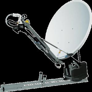 Deployed Winegard WX1200, 1.2 meter satellite internet antenna