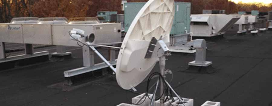 deployed fixed satellite system with ice prevention system