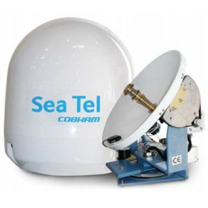 Sea Tel by Cobham television dish and covering