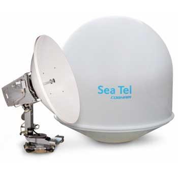 Sea Tel 04 series antenna by Cobham, satellite dish and casing