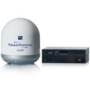 KVH TracPhone v3 marine satellite internet dish