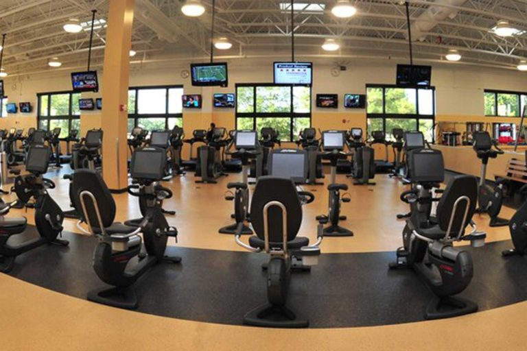 gym with televisions and DIRECTV