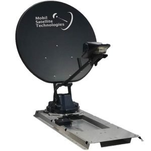 HughesNet RV Satellite Internet antenna the DataSat HNS-RV deployed