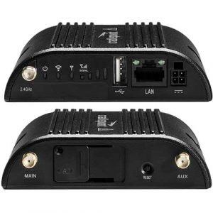 Cradlepoint IBR200 router front and back view
