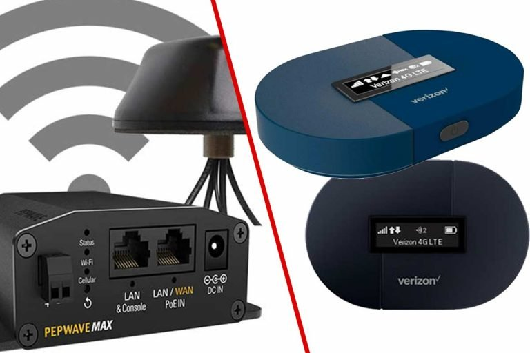 Comparison of Pepwave router and a mobile hotspot