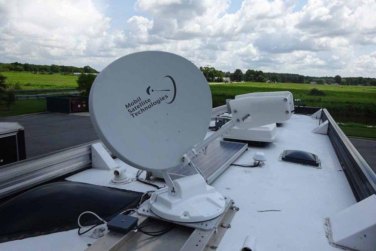 RVDataSat 840 installed on top of an RV